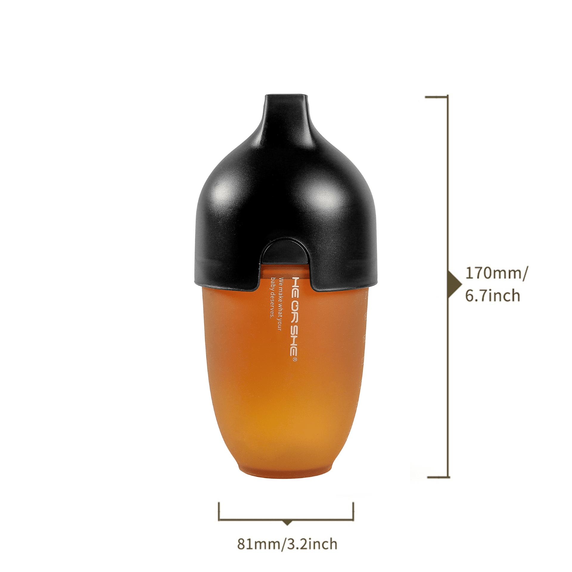 Бебешка бутилка He or She 240мл.- 6+ месеца - черна