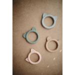 Mushie гризалка - розова с ушички