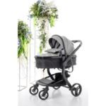 Бебешка количка Bubu 2в1 - сива