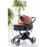 Бебешка количка Bubu 2в1 - кафява