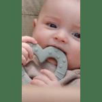 Bibs гризалка Bitie - сърце