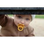 Залъгалка Bibs - жълта; 0-6 месеца