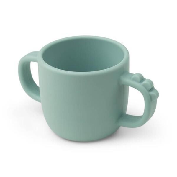 Peekaboo чаша Кроко с 2 дръжки в синьо
