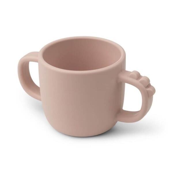 Peekaboo чаша Кроко с 2 дръжки в розово