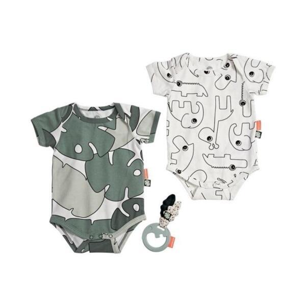 Бебешки боди комплект 2бр. и дрънкалка за новородено