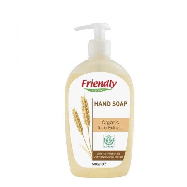 FRIENDLY ORGANIC Натурален сапун за ръце с екстракт от органичен ориз 500мл