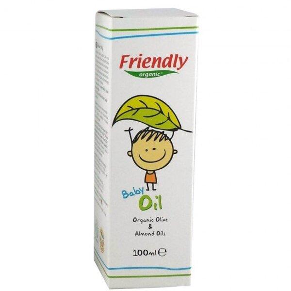 FRIENDLY ORGANIC Бебешко олио с органично масло от маслина и бадем - 100мл