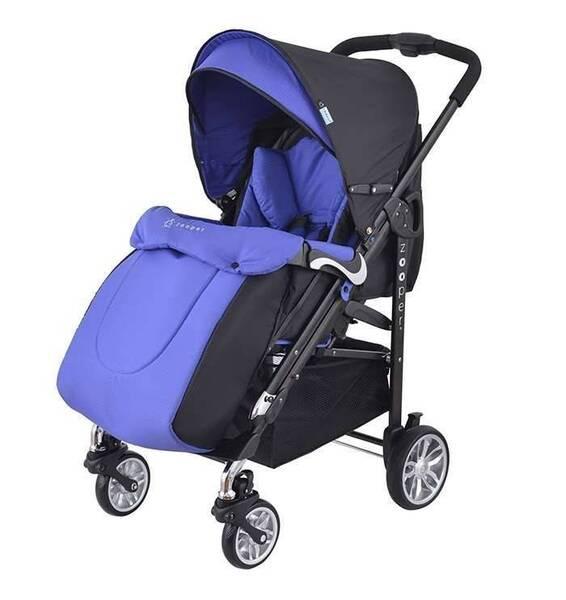 Детска количка, комбинирана Zooper Waltz Royal Blue Plaid, кралско синьо и черно