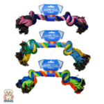 Играчка-въже за куче с 2 възела за дърпане 42см World of Pets-Copy