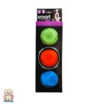 Дентални свирещи топки за куче - комплект от 3 6см Smart Choice