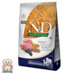 N&D Ancestral Grain Adult с Агне и Боровинка за порастнали кучета от средни и големи породи 12кг