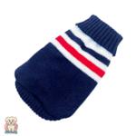 Мек и топъл плетен пуловер за куче и коте в синьо