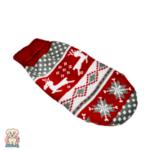 Коледен плетен пуловер за куче и коте с еленче-Copy