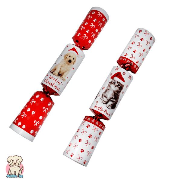 Коледен кракер - изненада - за коте или малко куче