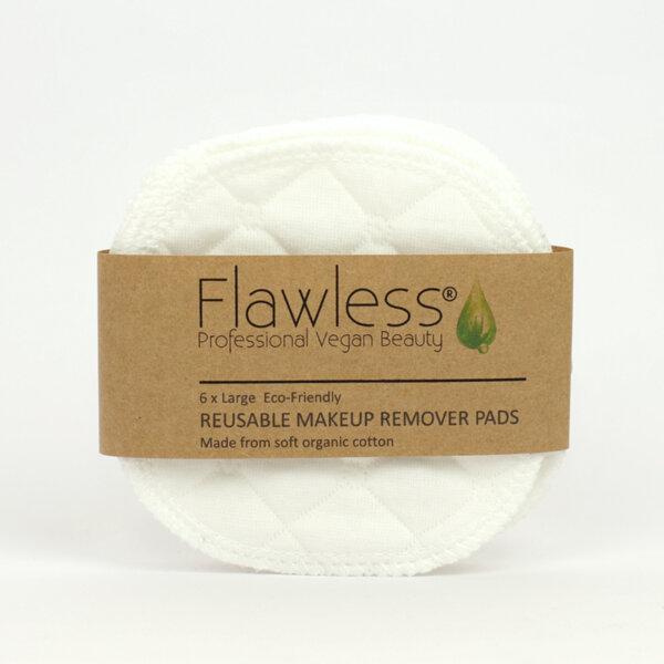 Flawless тампони за лице от органичен памук - 6 бр. + торбичка за пране