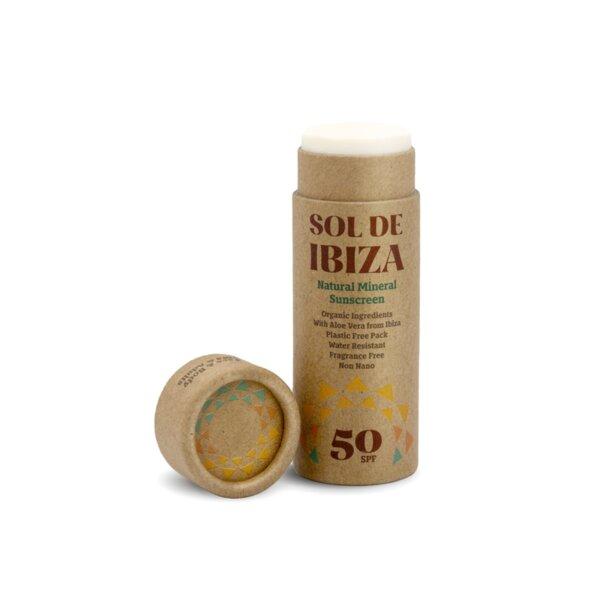 Веган слънцезащитен крем - стик - SPF 50 - Sol De Ibiza