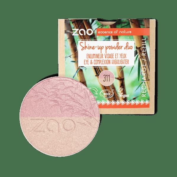 ZAO Organic - Хайлайтър Shine-up DUO - 9гр. - ПЪЛНИТЕЛ
