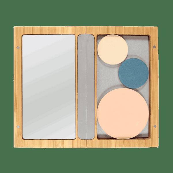 Zao Organic - малка бамбукова кутия с огледало