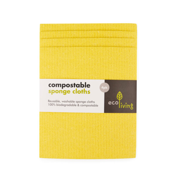 Комплект 4 бр. компостируеми гъби за почистване и попиване