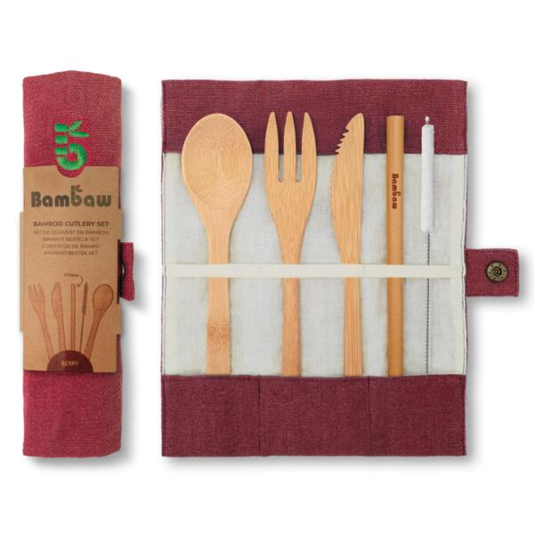 Koмплект джобни бамбукови прибори - Bambaw (2 цвята)