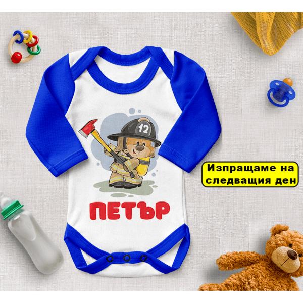 Бебешко боди за момче (пожарникари) 3