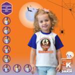 Детска тениска за момиче с име Прекалено сладка за вещица лил 66-Copy
