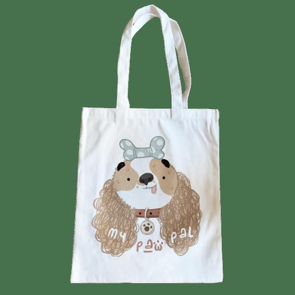 Ежедневна платнена чанта - помогнете на кучетата