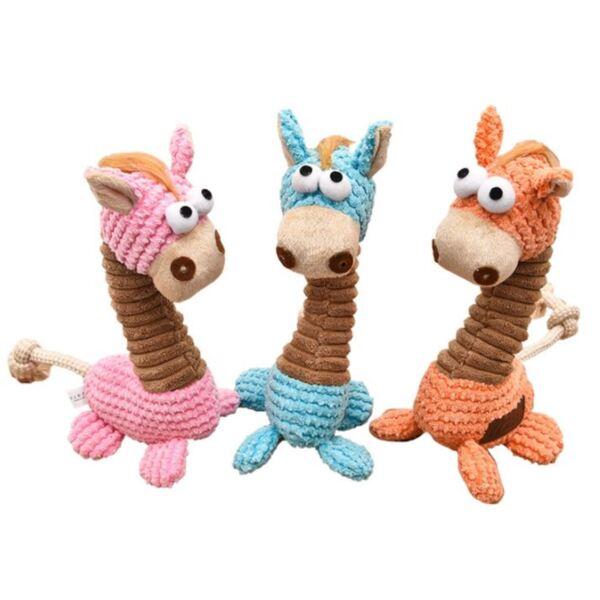 Плюшена играчка - жираф, в три цвята