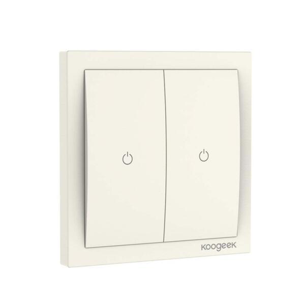 Koogeek Ключ за лампа с два превключвателя - KH02CN