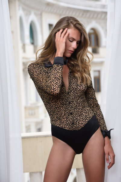 Outwear body риза принт леопард нежна материя