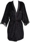 Черно кимоно велур и дантела