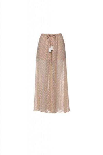 Дълъг панталон цвят телесен фина материя с къса подплата