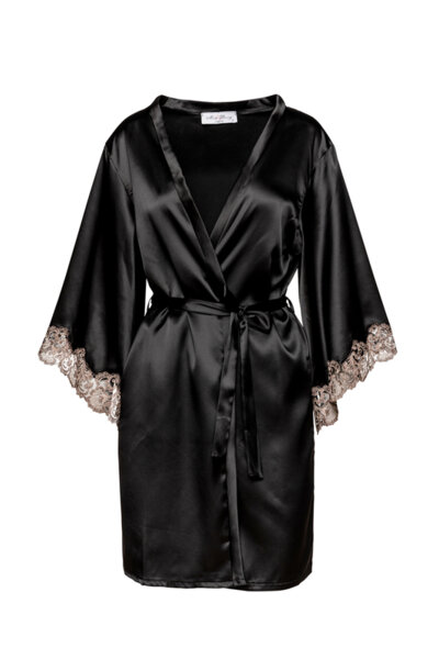 Satin robe for brides черна!