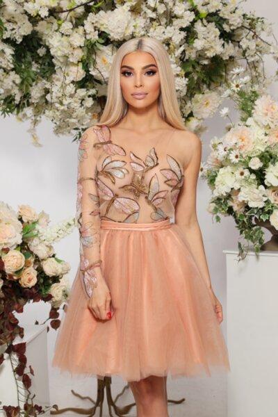ЛИМИТИРАНА рокля с едно рамо - корсет - пеперуди