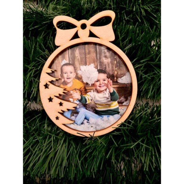 Коледна играчка със снимка