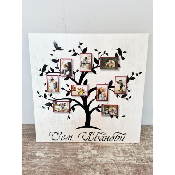Постер семейно дърво с 9 снимки
