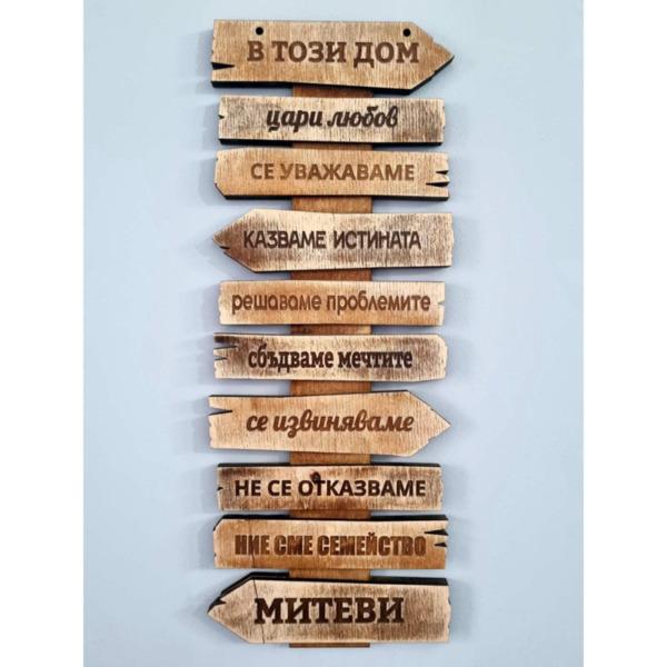 """Сувенир """"В този дом"""" с фамилия"""
