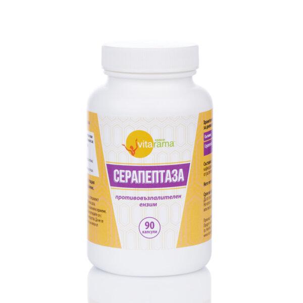 Серапептаза ензими (250 000 IU, 90 капсули)
