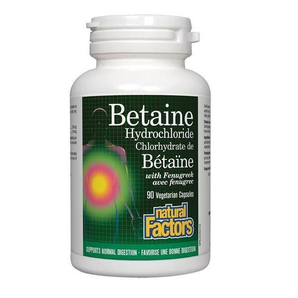Бетаин хидрохлорид (500мг, 90 капсули)