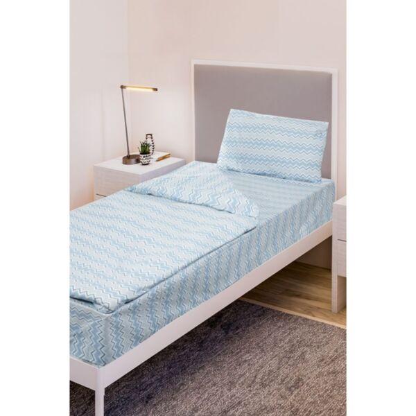 Двоен спален комплект Daily Zig Zag Blue