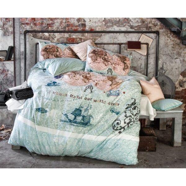 Спално бельо за единично легло World Travel / 100% памук Пике