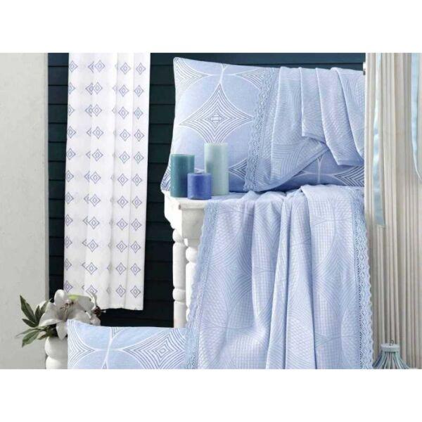 Спално бельо за спалня Мави / 100% памук Пике - Дантела
