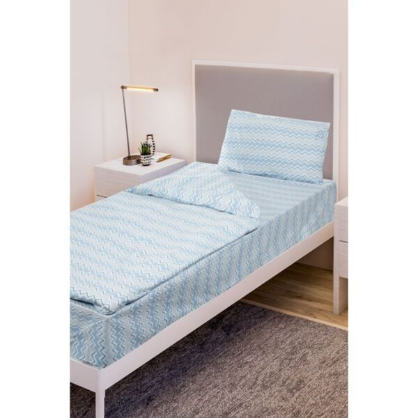 Единичен спален комплект Daily Zig Zag Blue