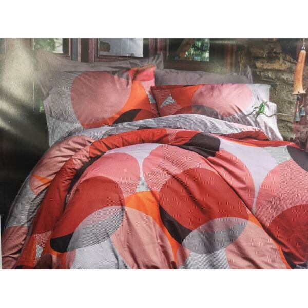 Спален комплект от лукозен памучен поплин 100% памук Макси Съркъл