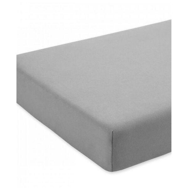 Чаршаф с ластик от трико 100% памук в сив цвят