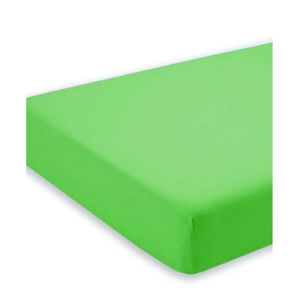 Чаршаф с ластик от трико 100% памук в зелен цвят