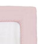 Чаршаф с ластик ранфорс с 2 калъфки в светло розово