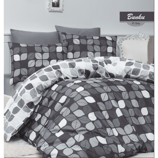 Спален комплект Bunku Grey - стил в графитено сиво и бяло