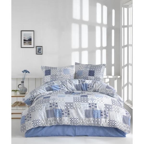 Двоен спален комплект пике Адония мави