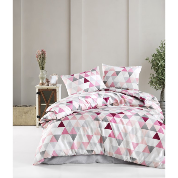 Двоен спален комплект с тънко одеяло тип пике Елефант Пинк